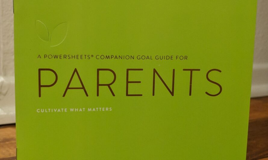 Giveaway Time!! The Goal Guide for Parents by Cultivate What Matters