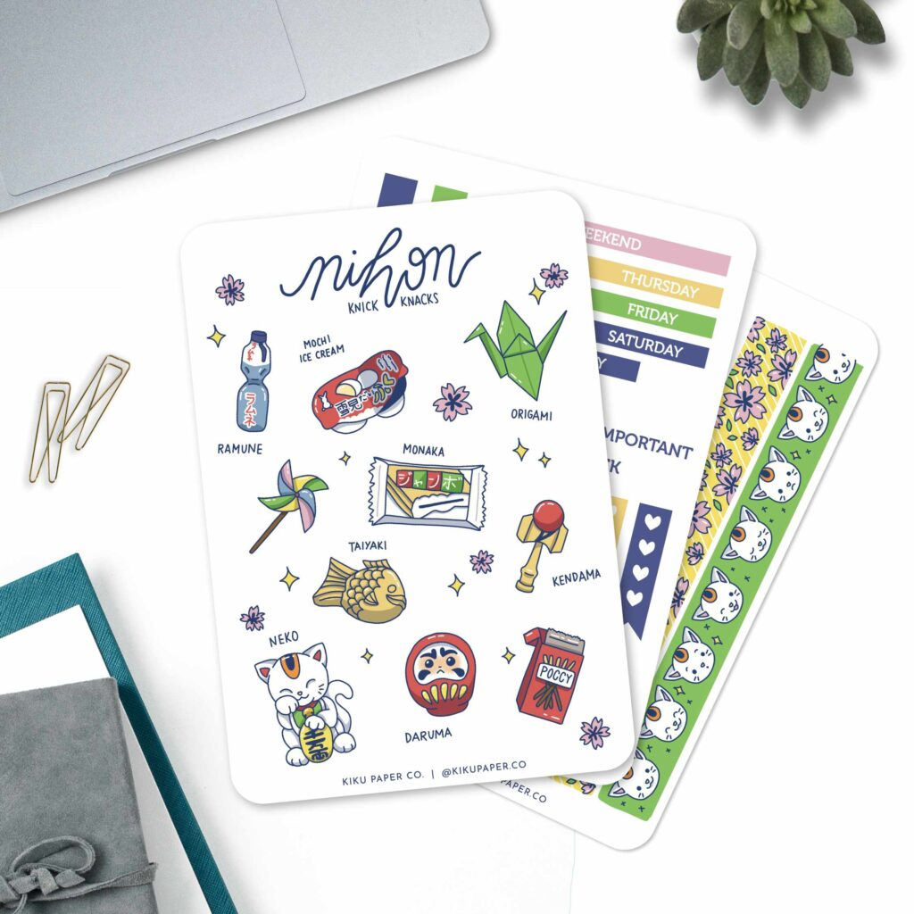 Paper with Nihon, Happy Cat, Origami, other Japanese items